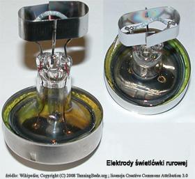 elektrody świetlówki rurowej