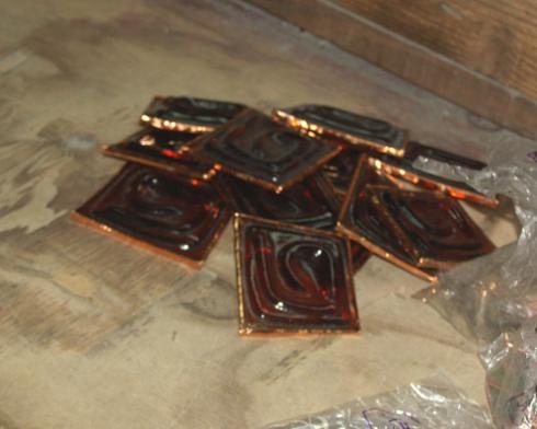 lampy witrażowe - gotowe elementy szklane